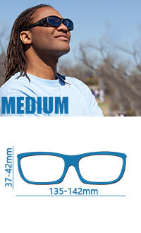 Medium尺寸142mmx42mm太陽眼鏡,保護眼睛防uv400覆蓋式戶外太陽眼鏡