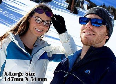 X-Large尺寸147mmx51mm太陽眼鏡,保護眼睛polaroid寶麗萊偏光外掛式雪地太陽眼鏡